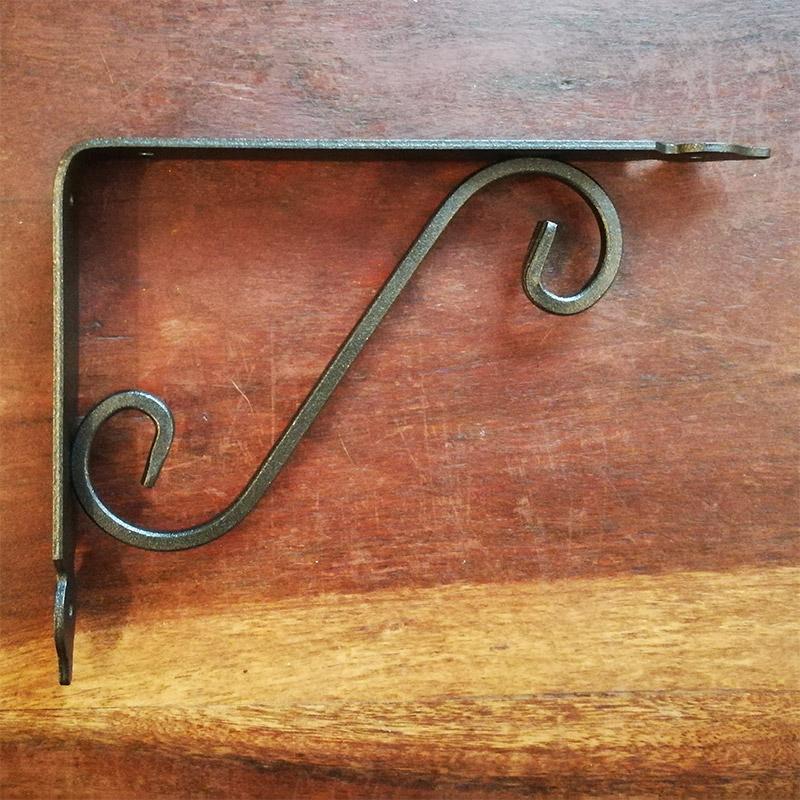 Staffe Per Mensole In Ferro.Staffa Per Mensola Nero Metallizzato 20 Cm Reggimensola In Ferro